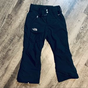 North Face Black Snow Pants Size Small 7/8 Unisex
